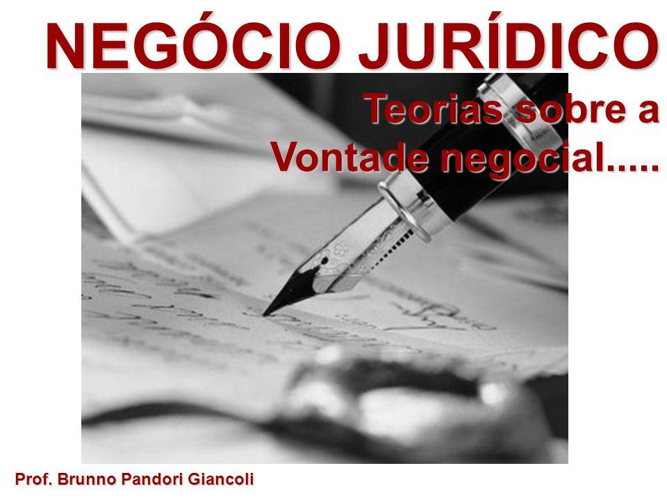 NEGÓCIO JURÍDICO Teorias sobre a Vontade negocial.....
