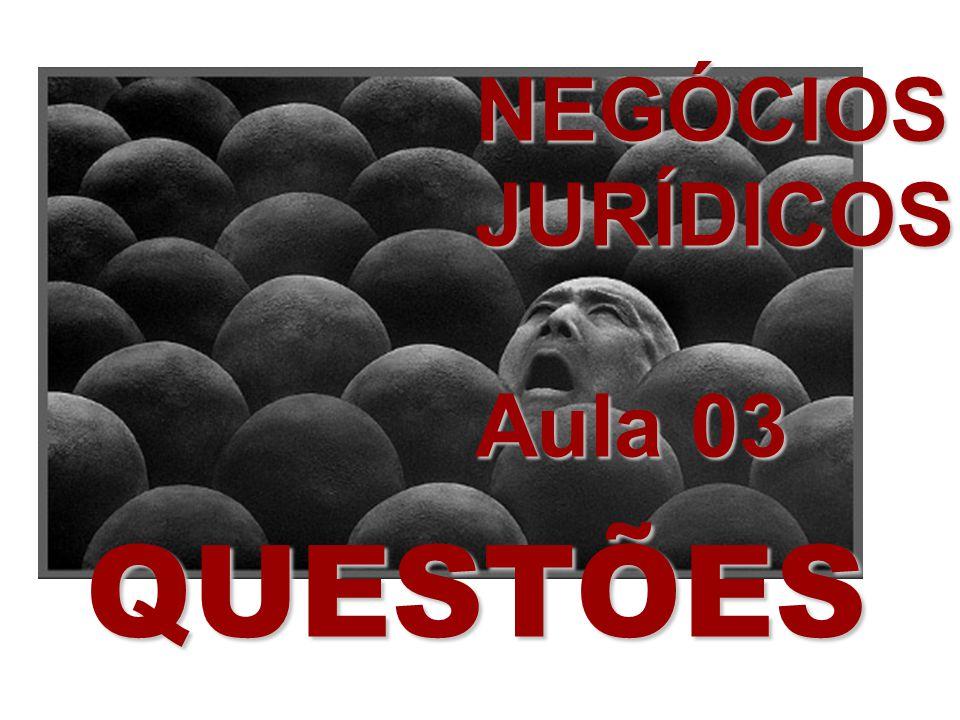 NEGÓCIOS JURÍDICOS Aula 03