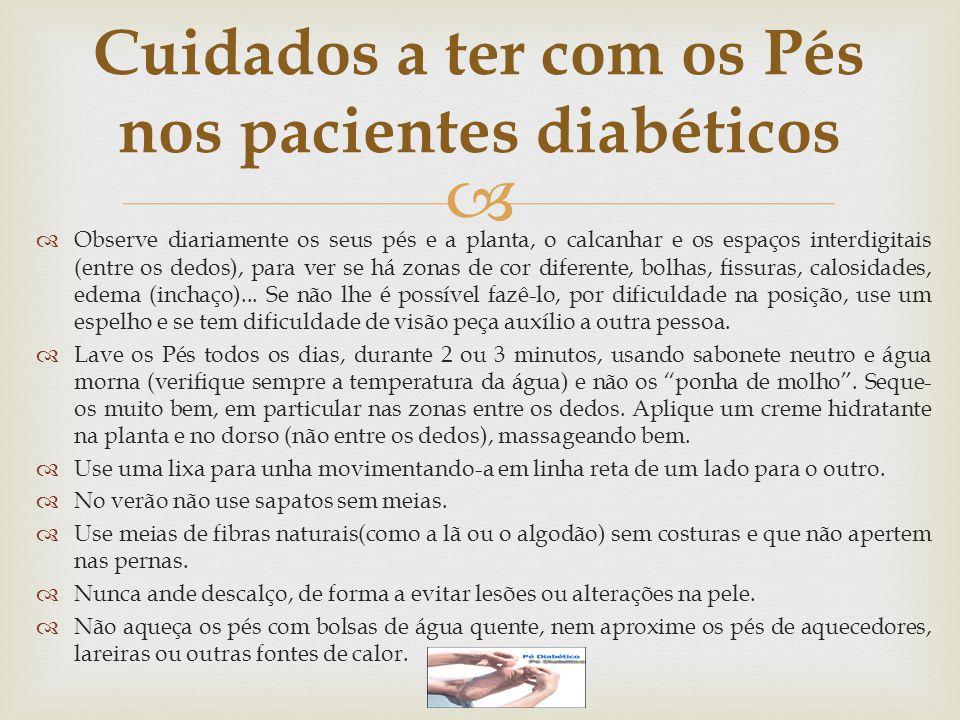 Cuidados a ter com os Pés nos pacientes diabéticos