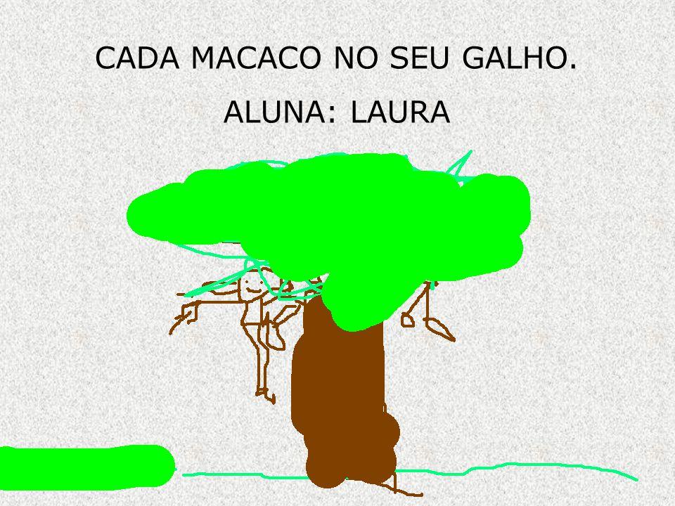 CADA MACACO NO SEU GALHO.