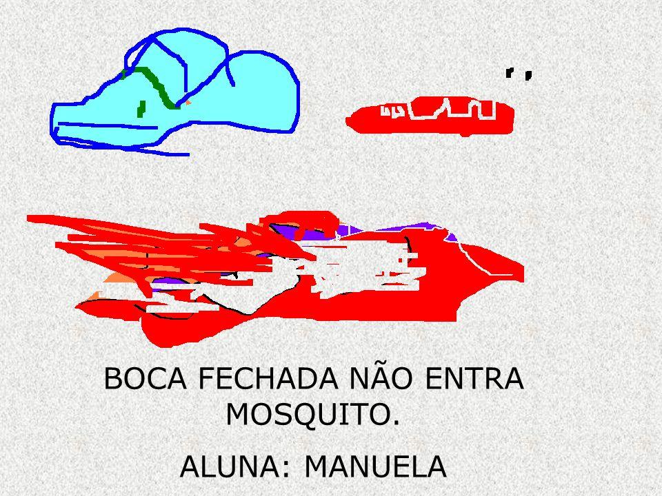 BOCA FECHADA NÃO ENTRA MOSQUITO.