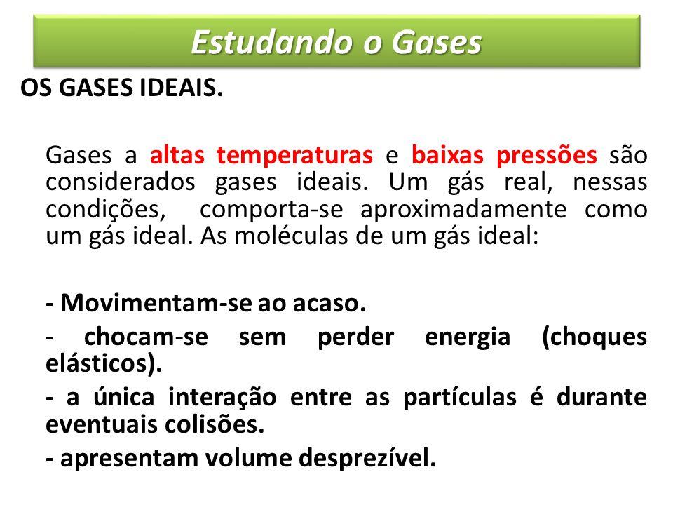 Estudando o Gases OS GASES IDEAIS.