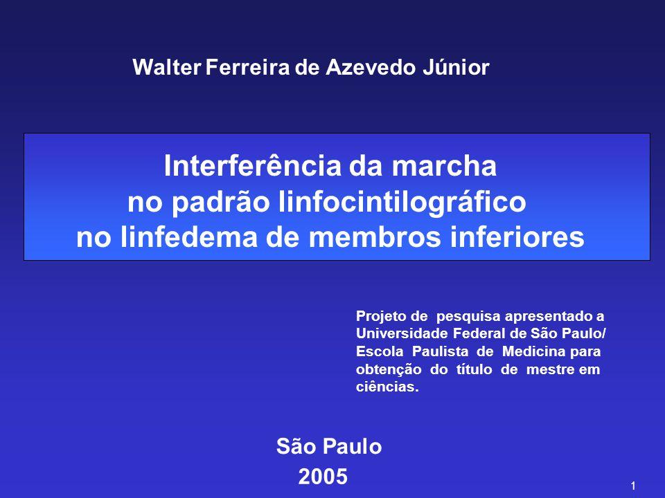 Interferência da marcha no padrão linfocintilográfico