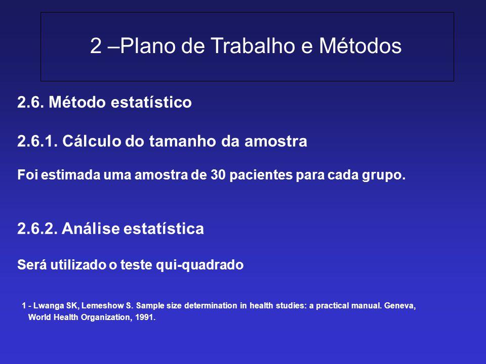2 –Plano de Trabalho e Métodos