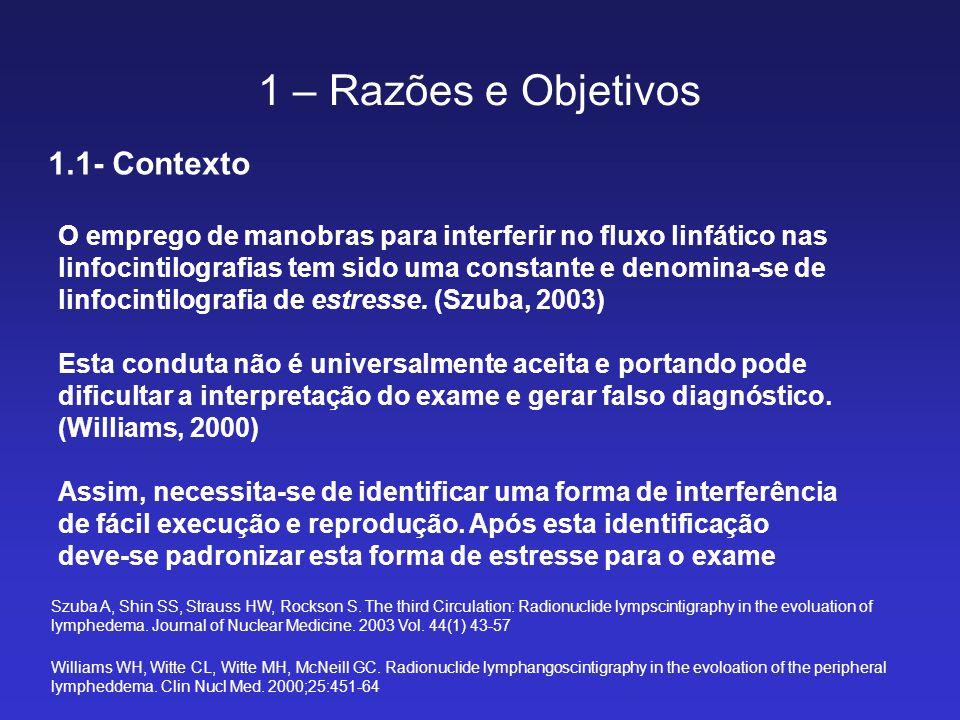 1 – Razões e Objetivos 1.1- Contexto