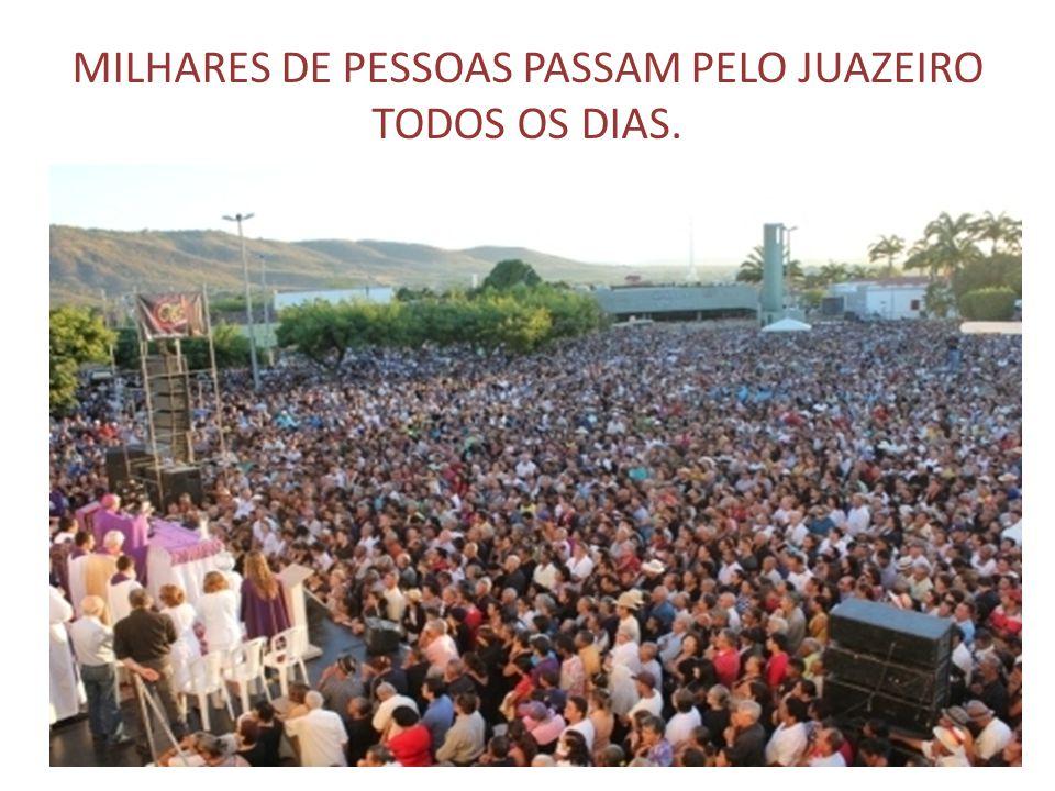 MILHARES DE PESSOAS PASSAM PELO JUAZEIRO TODOS OS DIAS.