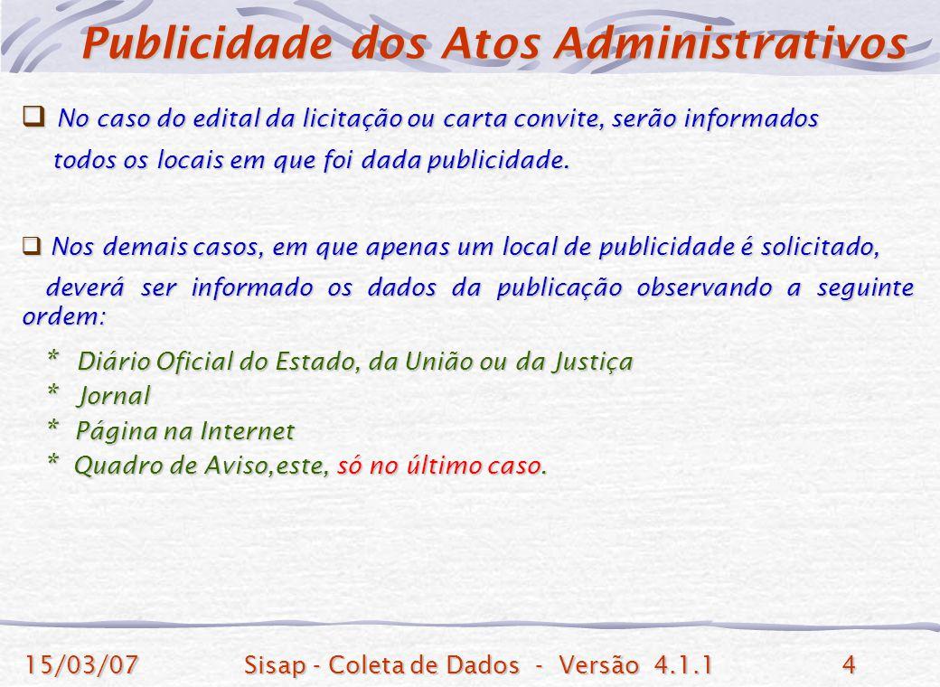 Publicidade dos Atos Administrativos