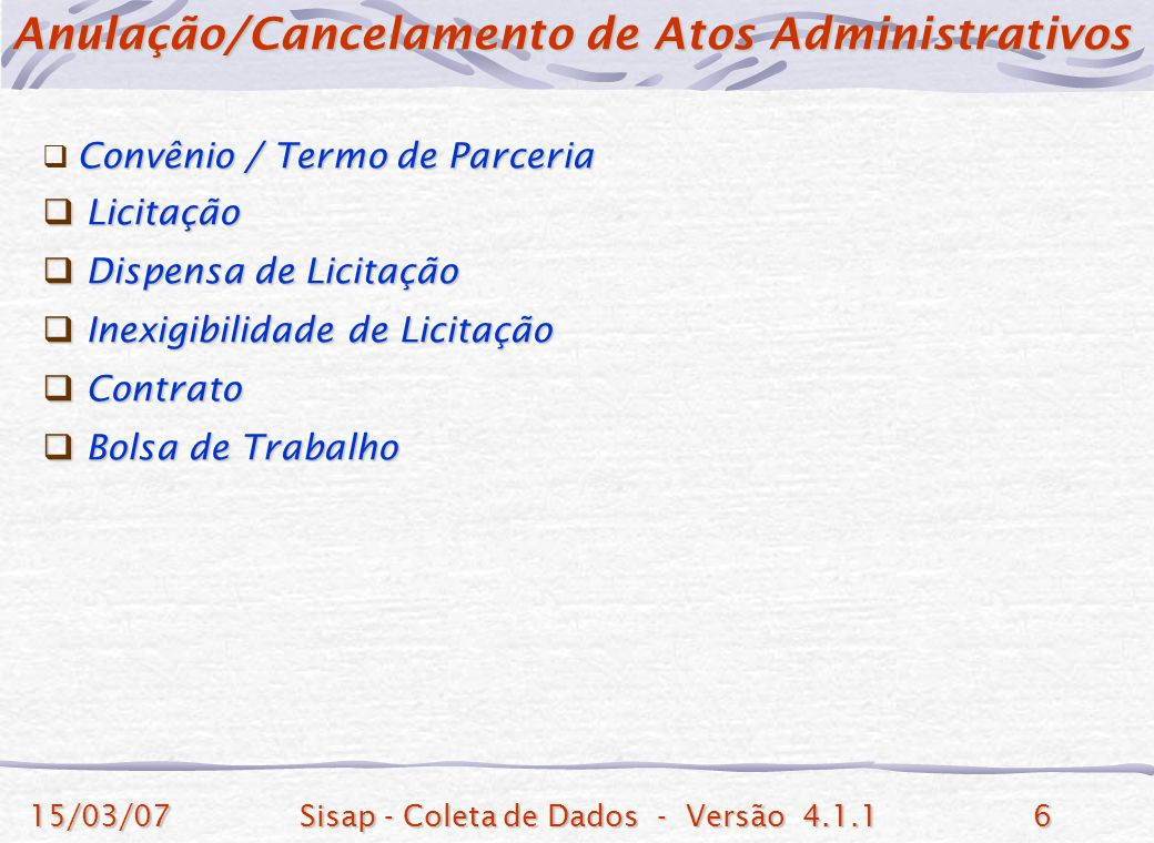 Anulação/Cancelamento de Atos Administrativos
