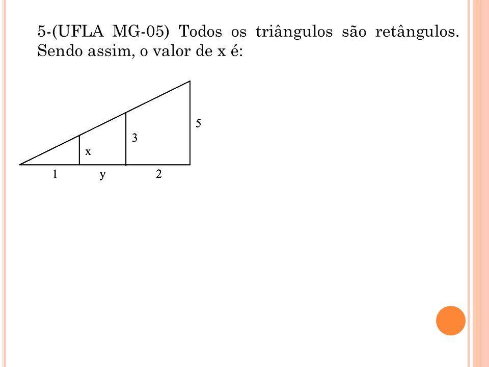 5-(UFLA MG-05) Todos os triângulos são retângulos
