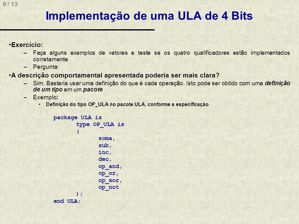 Implementação de uma ULA de 4 Bits