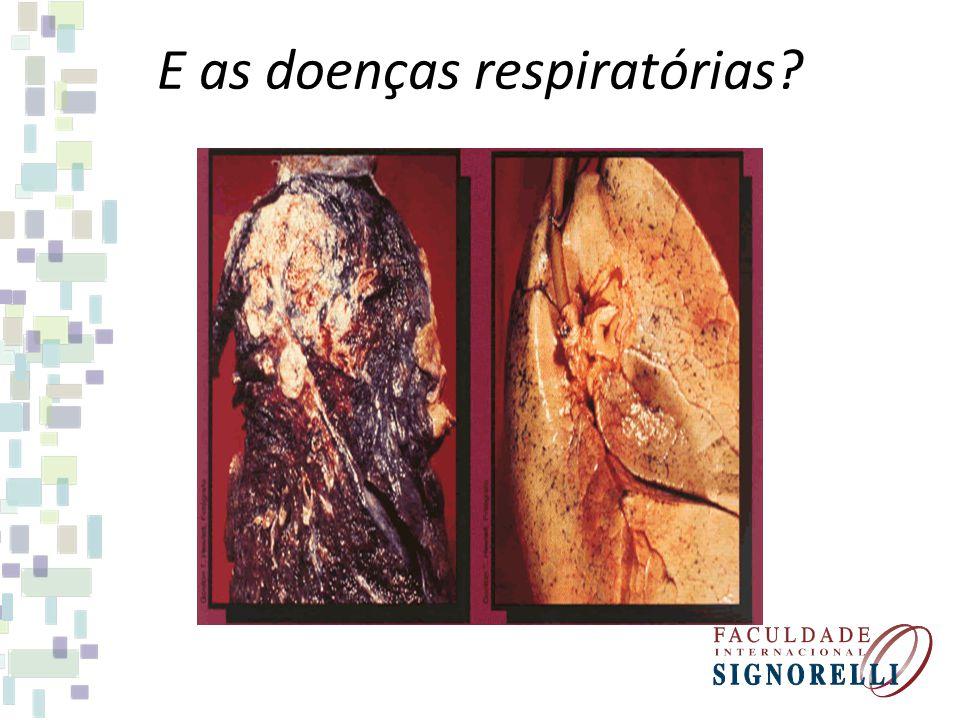 E as doenças respiratórias