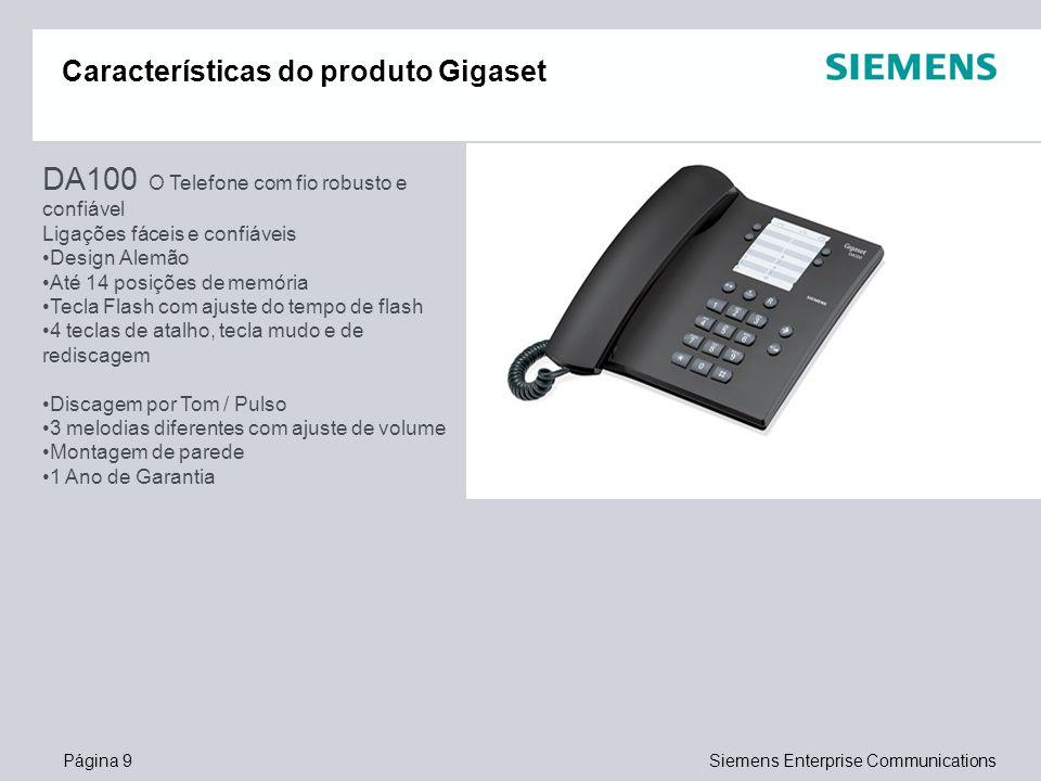 Características do produto Gigaset