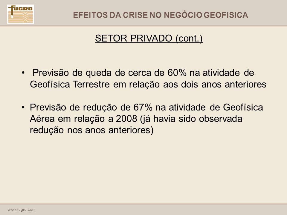 EFEITOS DA CRISE NO NEGÓCIO GEOFISICA