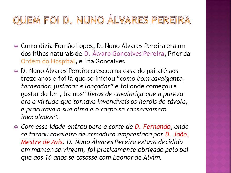 Quem foi D. Nuno Álvares Pereira