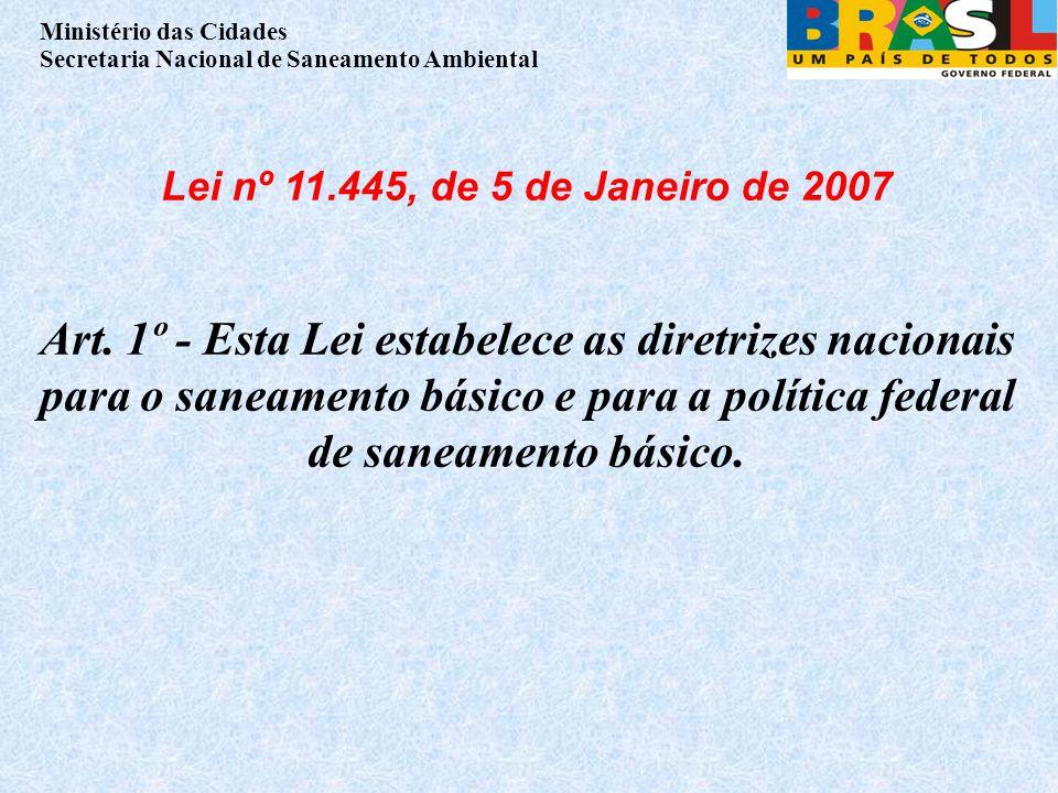 Lei nº 11.445, de 5 de Janeiro de 2007