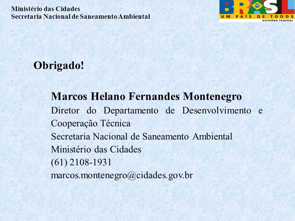 Obrigado! Marcos Helano Fernandes Montenegro