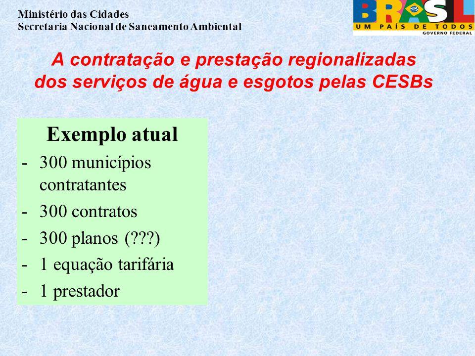 A contratação e prestação regionalizadas dos serviços de água e esgotos pelas CESBs