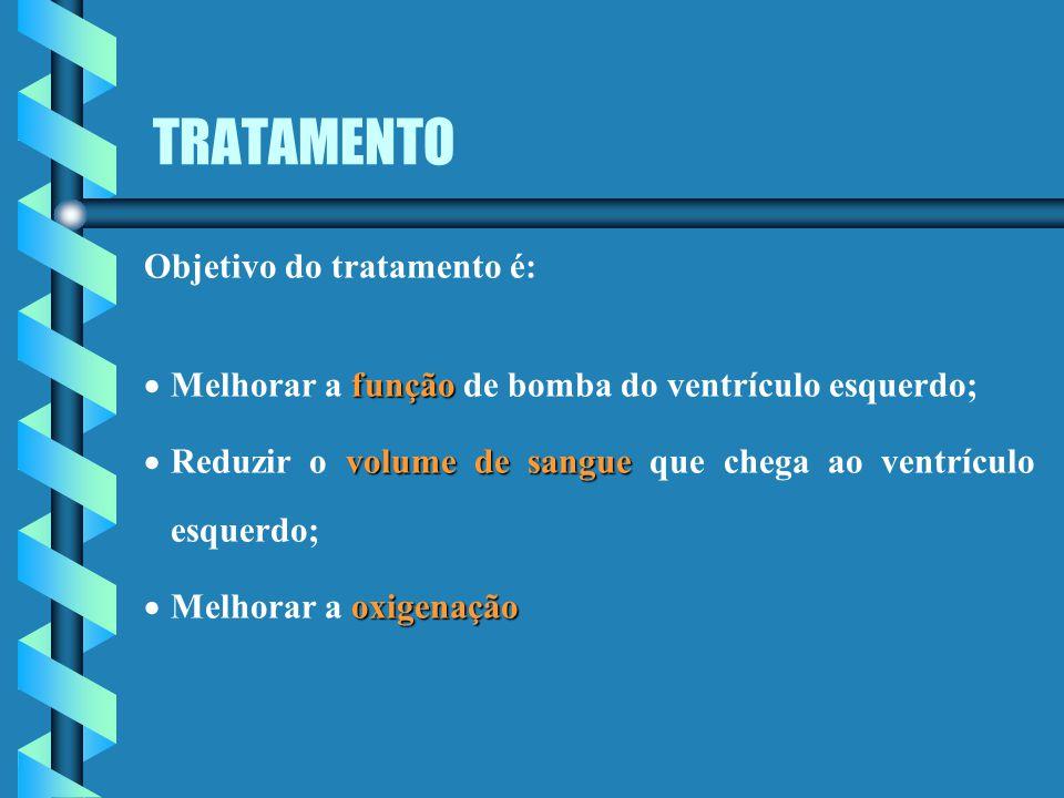 TRATAMENTO Objetivo do tratamento é: