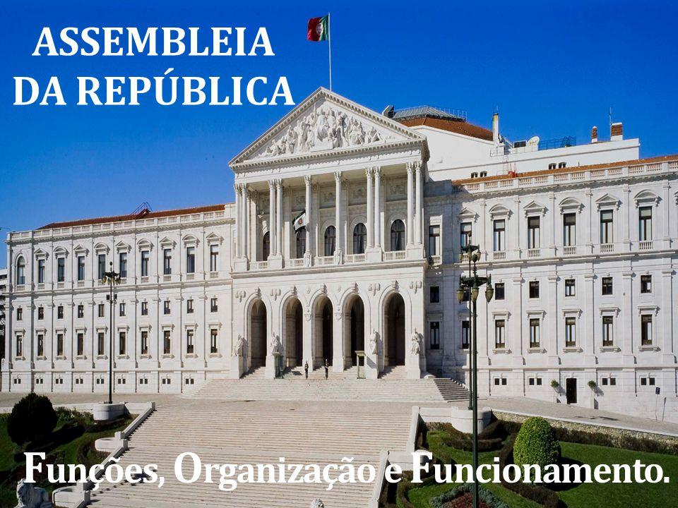 ASSEMBLEIA DA REPÚBLICA Funções, Organização e Funcionamento.