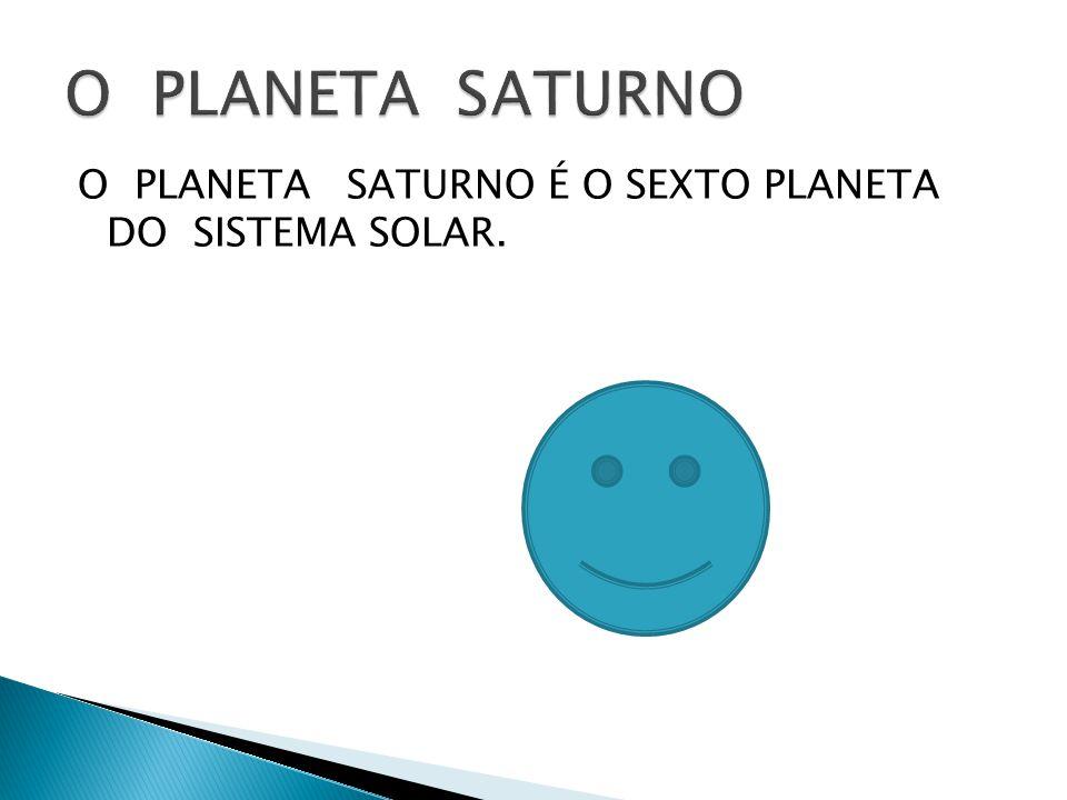 O PLANETA SATURNO O PLANETA SATURNO É O SEXTO PLANETA DO SISTEMA SOLAR.
