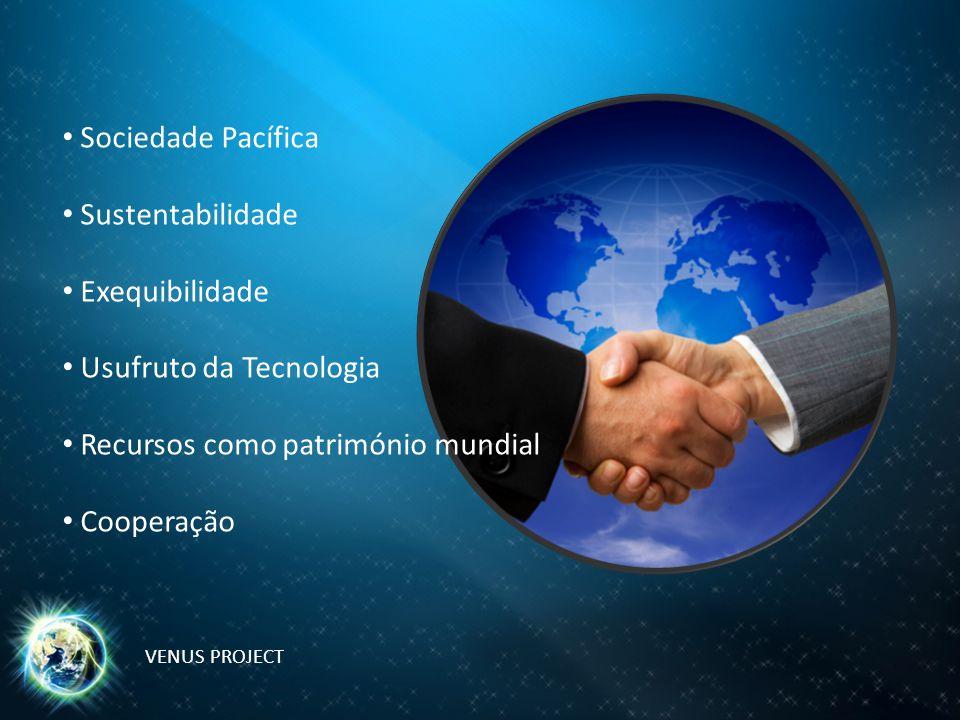 Usufruto da Tecnologia Recursos como património mundial Cooperação
