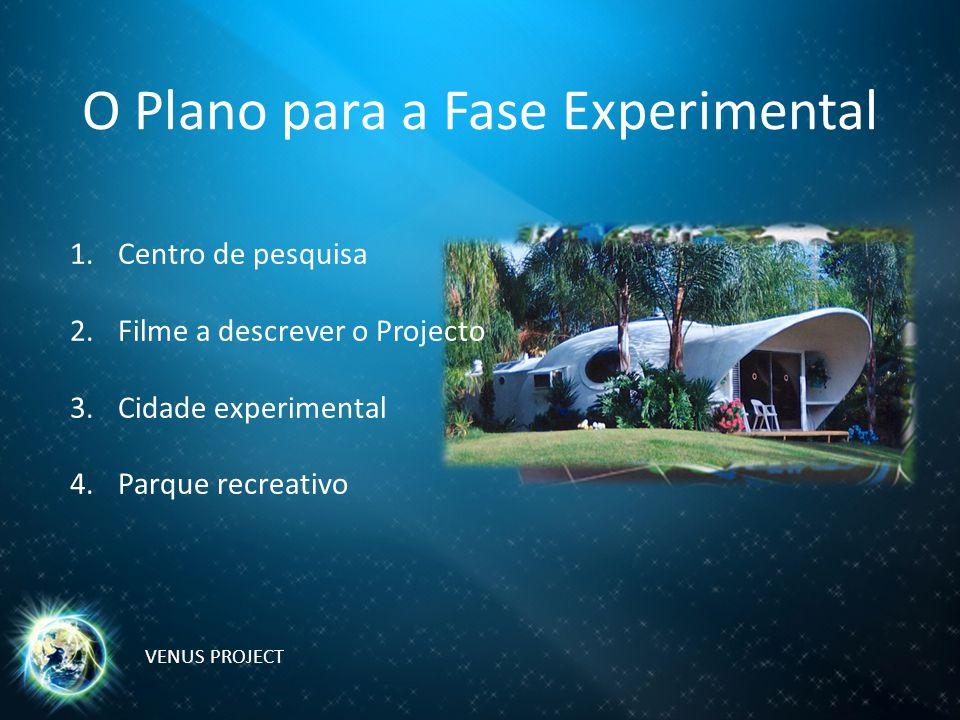 O Plano para a Fase Experimental