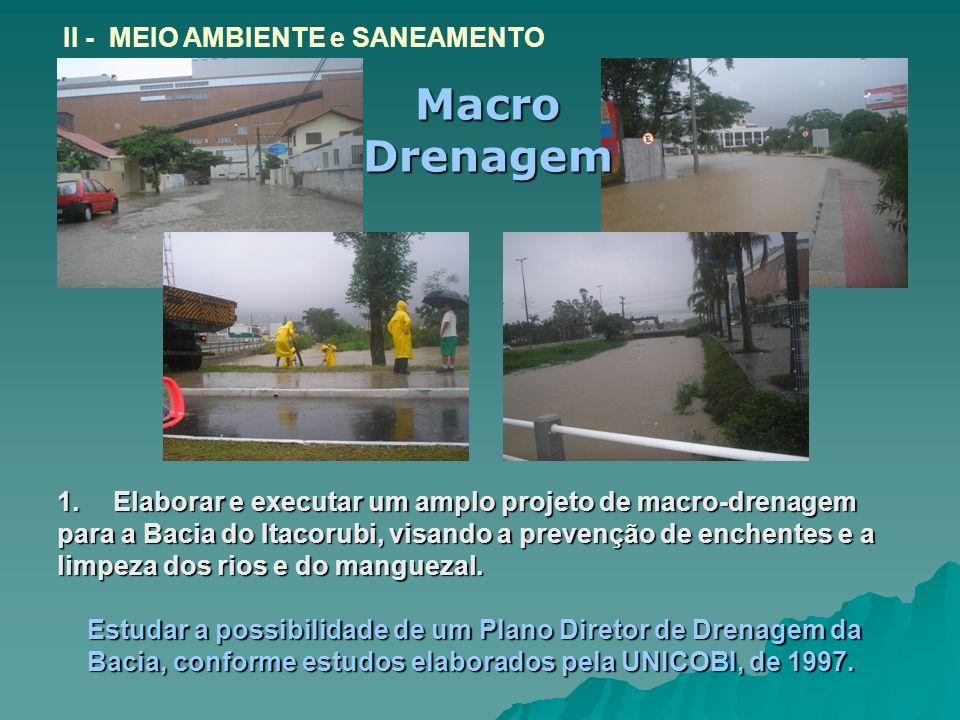 Macro Drenagem II - MEIO AMBIENTE e SANEAMENTO