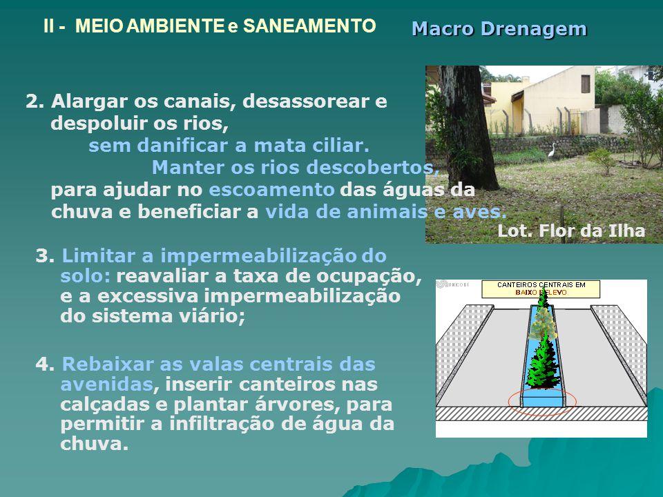 II - MEIO AMBIENTE e SANEAMENTO Macro Drenagem