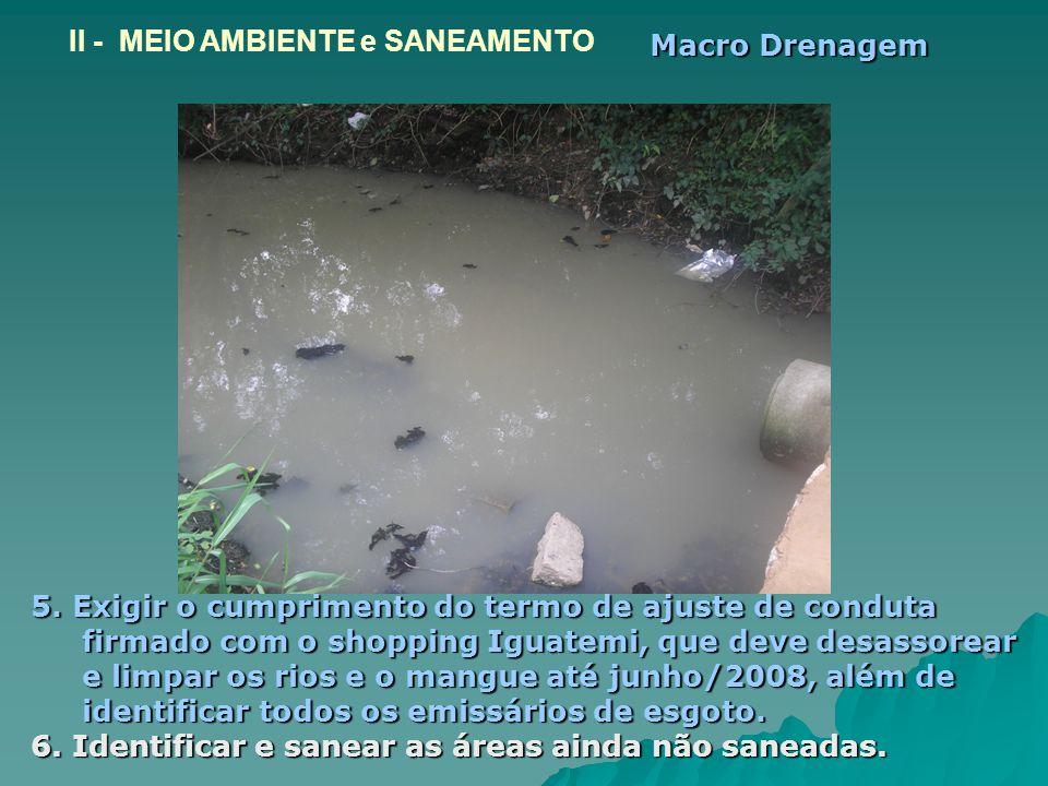 II - MEIO AMBIENTE e SANEAMENTO