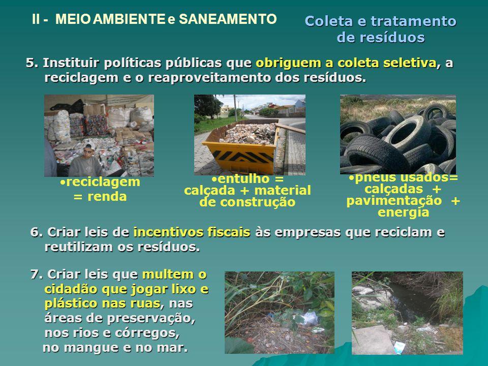 Coleta e tratamento de resíduos