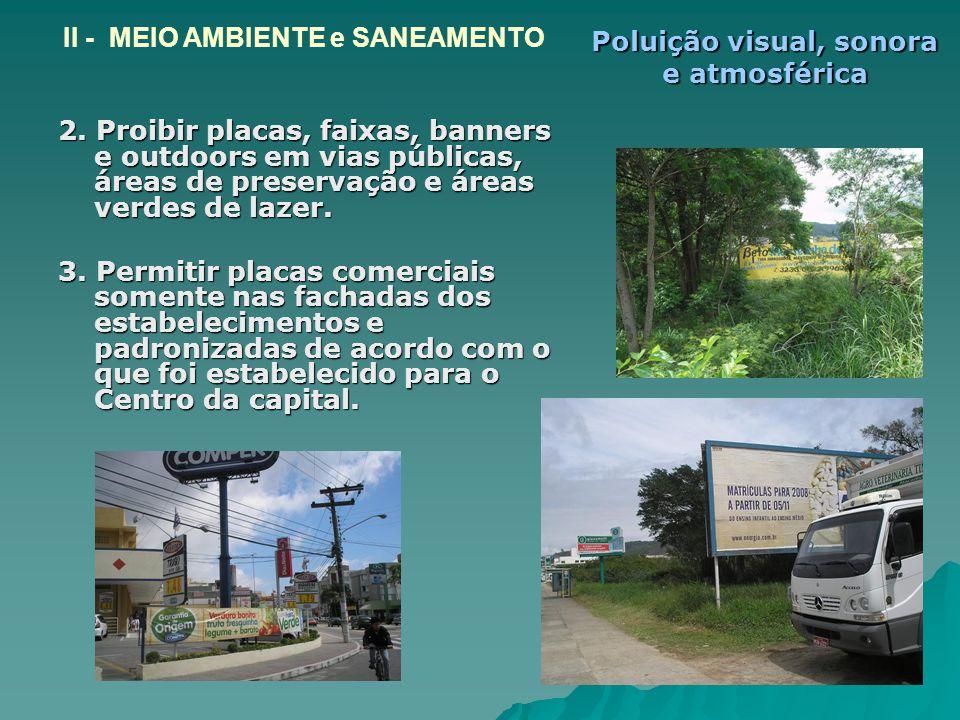 Poluição visual, sonora e atmosférica