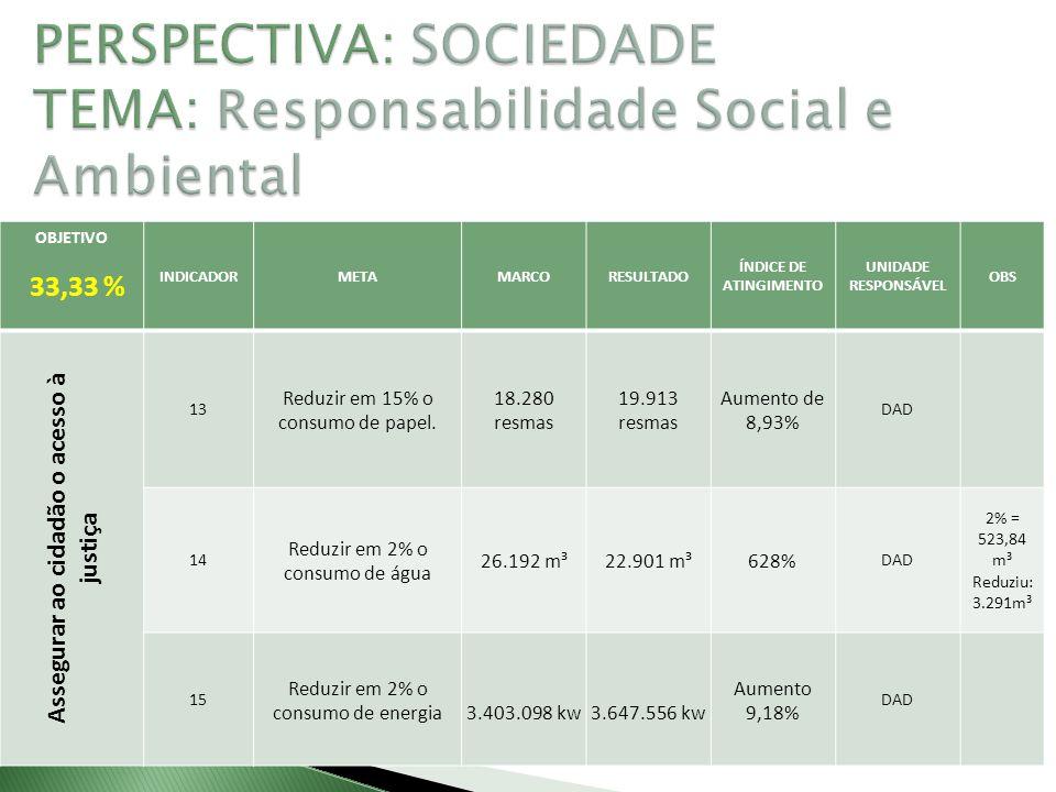 PERSPECTIVA: SOCIEDADE TEMA: Responsabilidade Social e Ambiental
