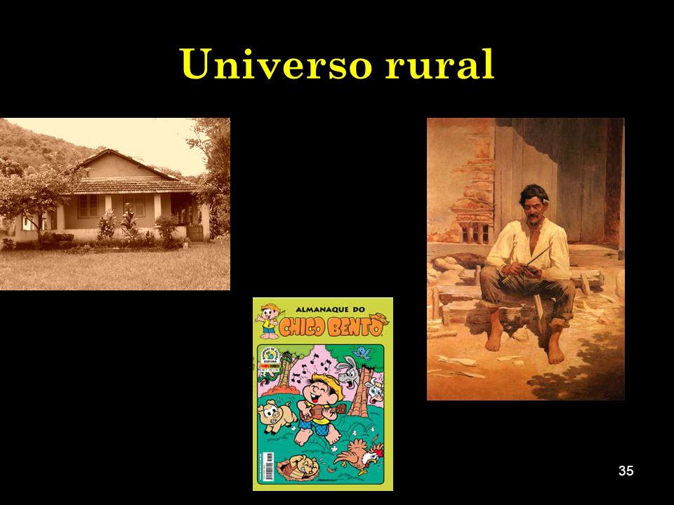 Universo rural Fazer com que os alunos percebam a construção desse modelo.