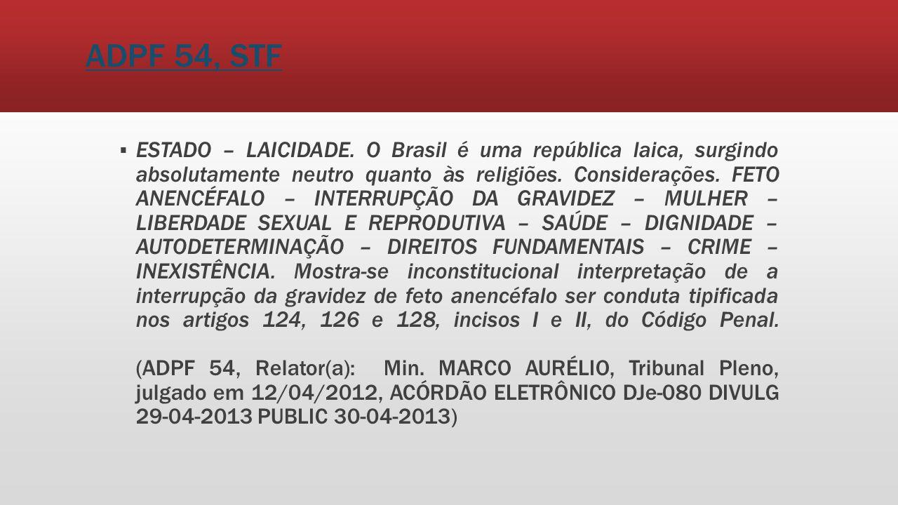 ADPF 54, STF