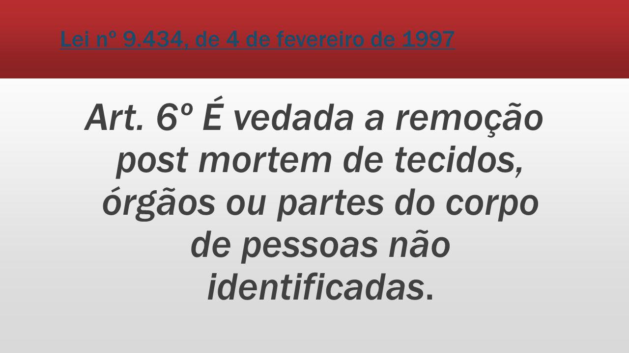 Lei nº 9.434, de 4 de fevereiro de 1997