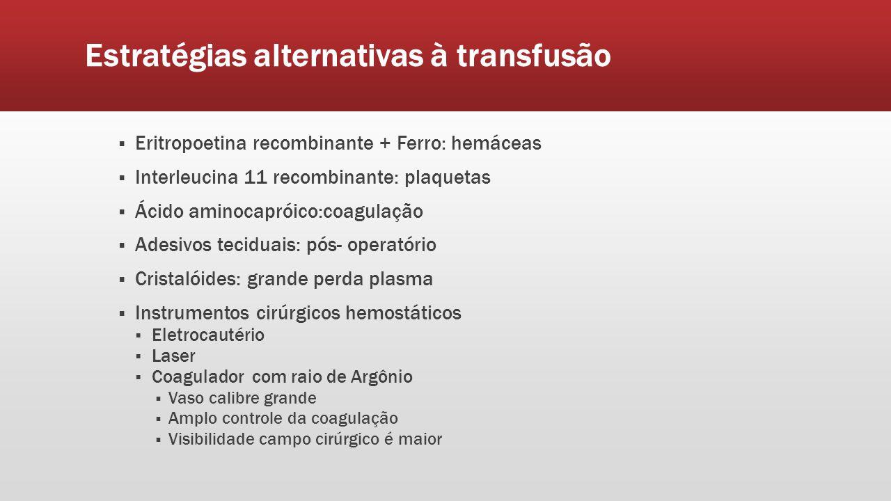 Estratégias alternativas à transfusão