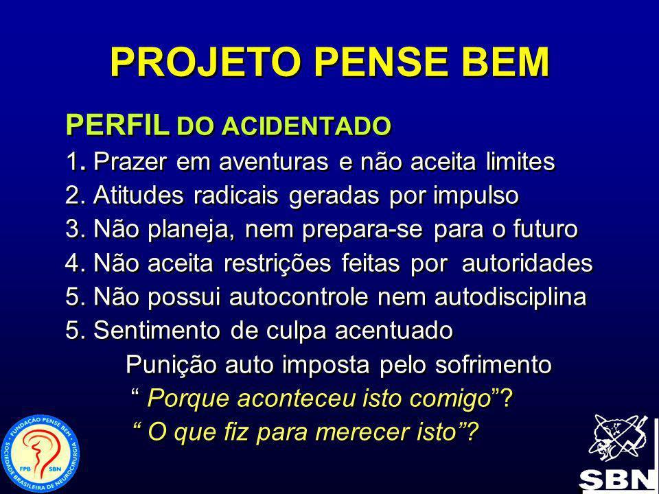 PROJETO PENSE BEM PERFIL DO ACIDENTADO