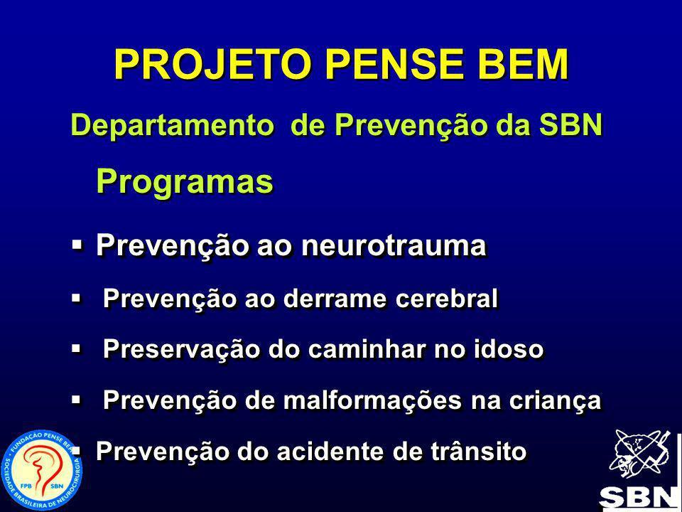 PROJETO PENSE BEM Departamento de Prevenção da SBN