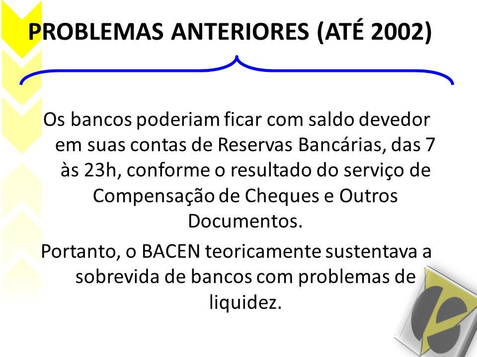 PROBLEMAS ANTERIORES (ATÉ 2002)
