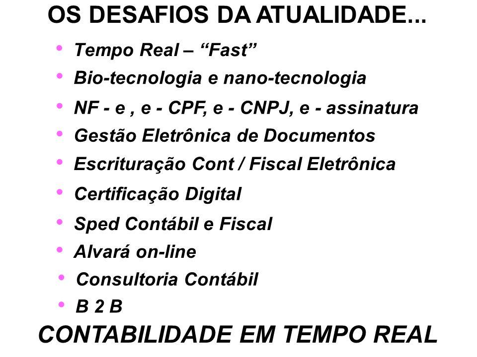 OS DESAFIOS DA ATUALIDADE...