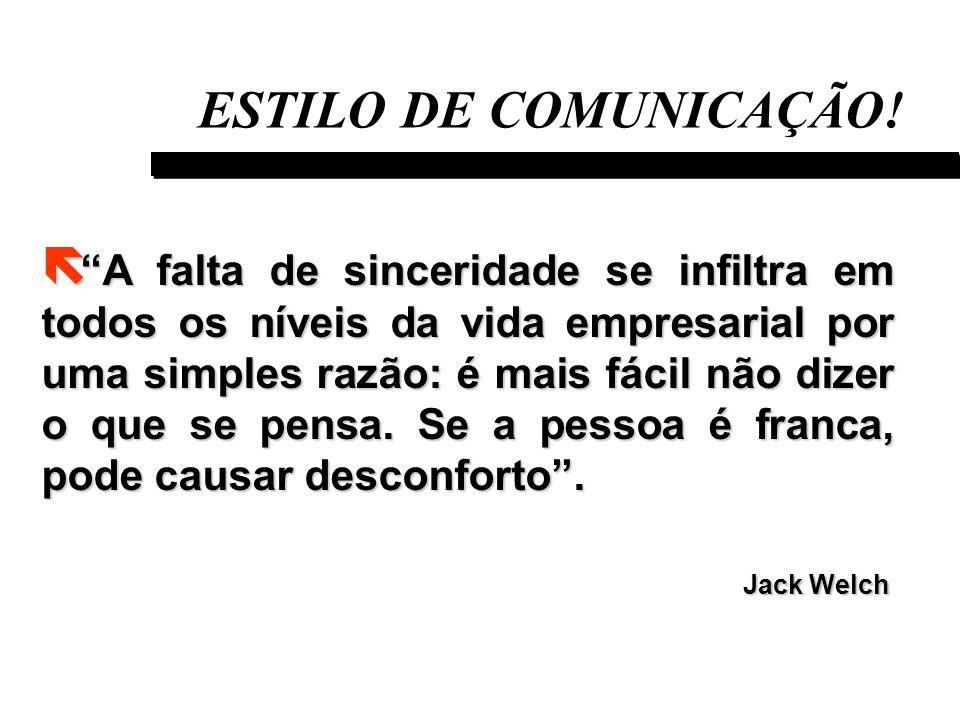 ESTILO DE COMUNICAÇÃO!