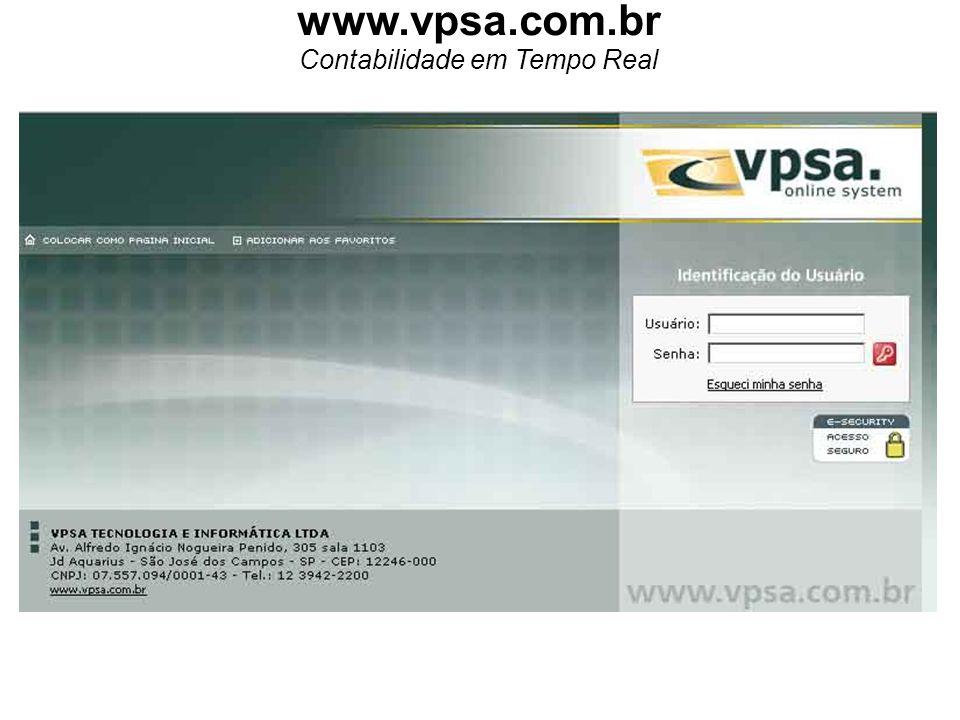 www.vpsa.com.br Contabilidade em Tempo Real