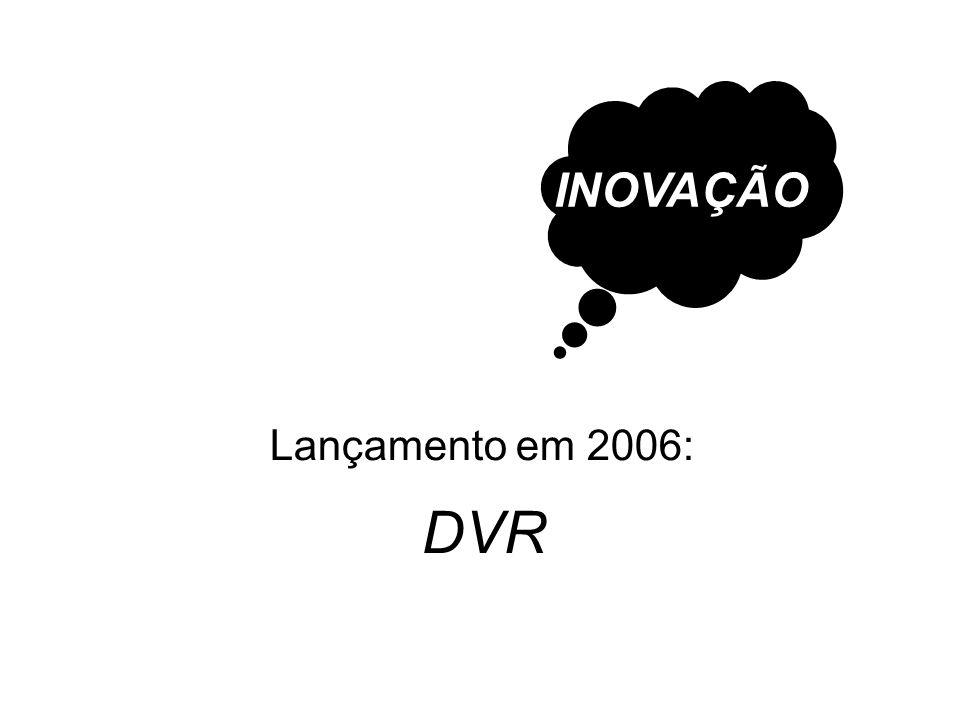 INOVAÇÃO Lançamento em 2006: DVR