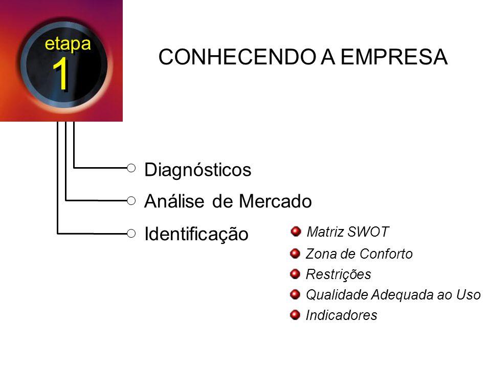 1 CONHECENDO A EMPRESA etapa Diagnósticos Análise de Mercado