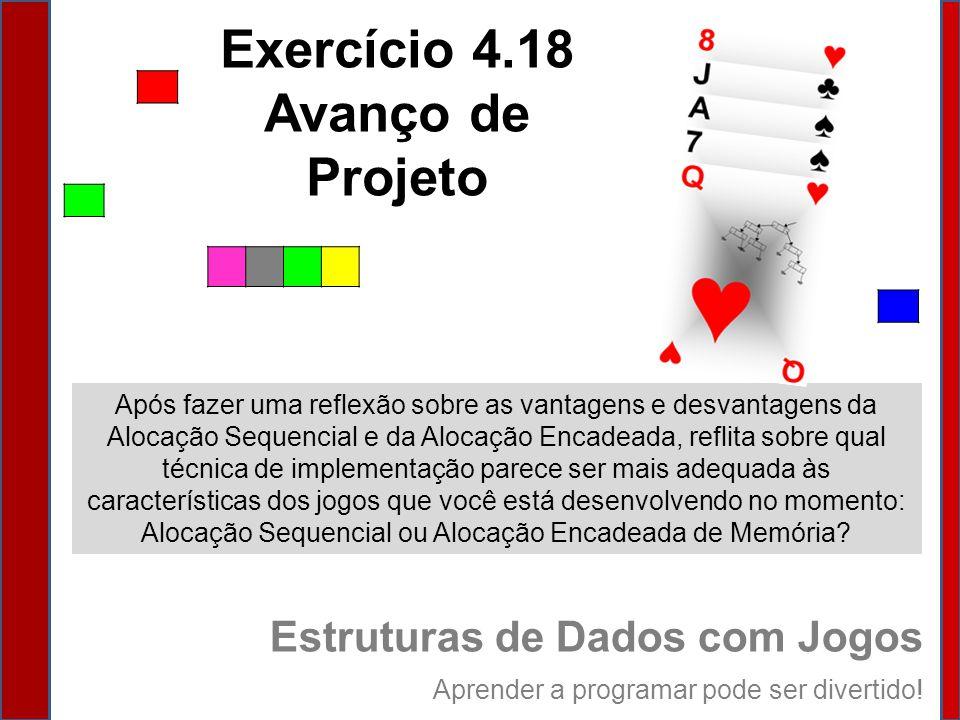 Exercício 4.18 Avanço de Projeto