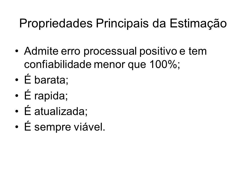 Propriedades Principais da Estimação