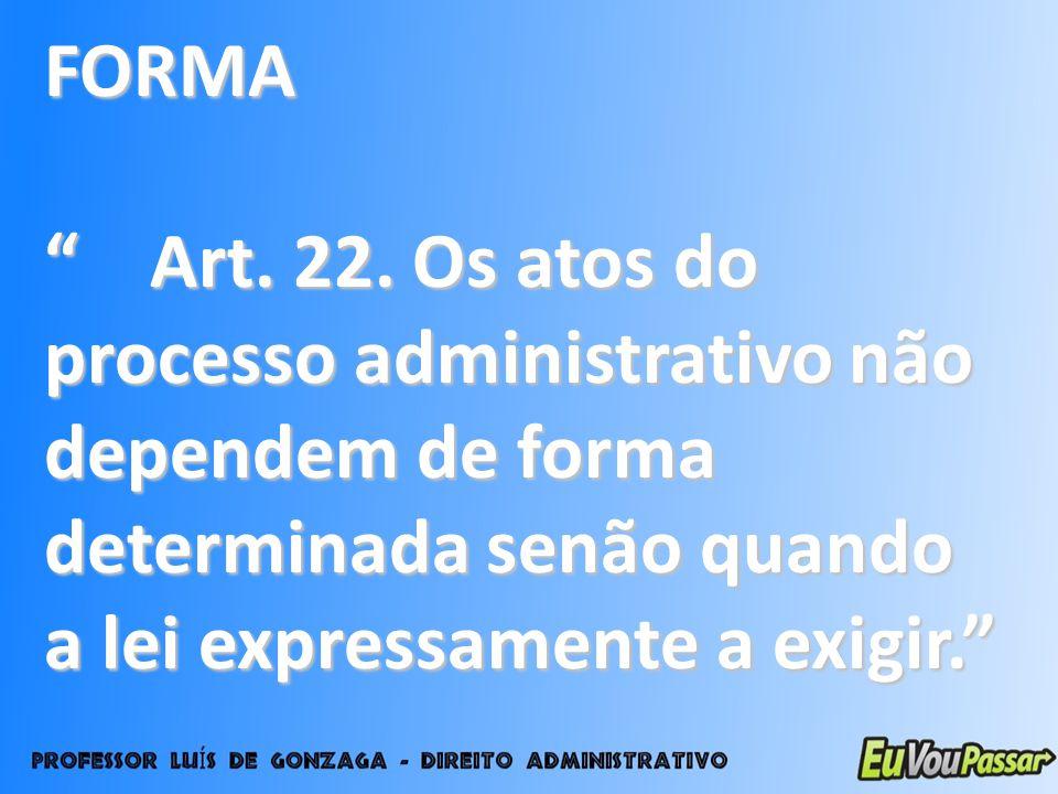 FORMA Art. 22.