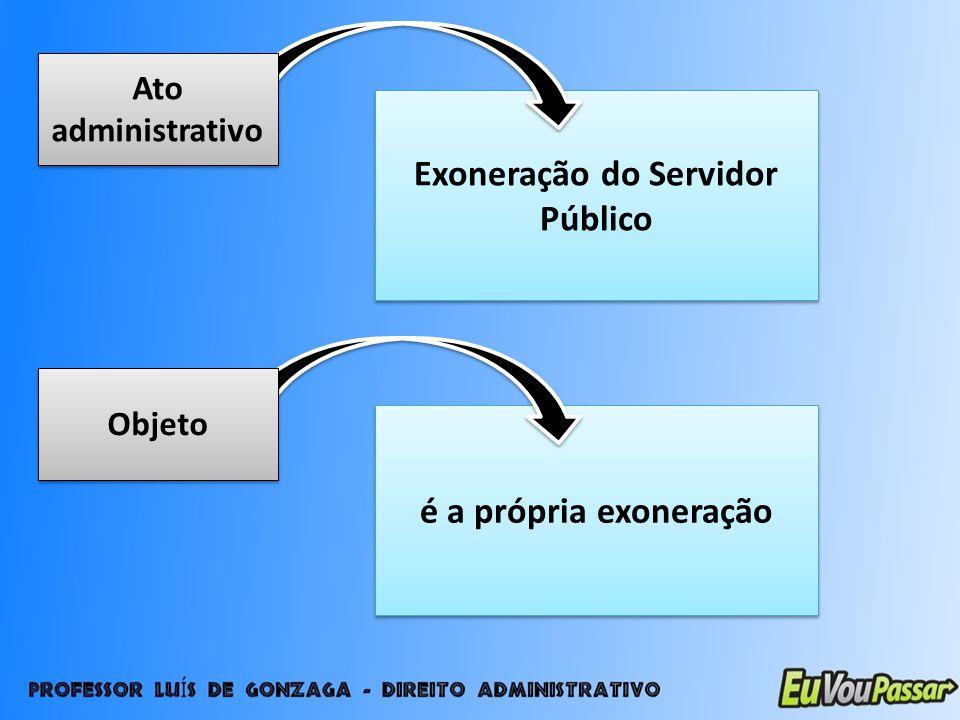 Exoneração do Servidor Público