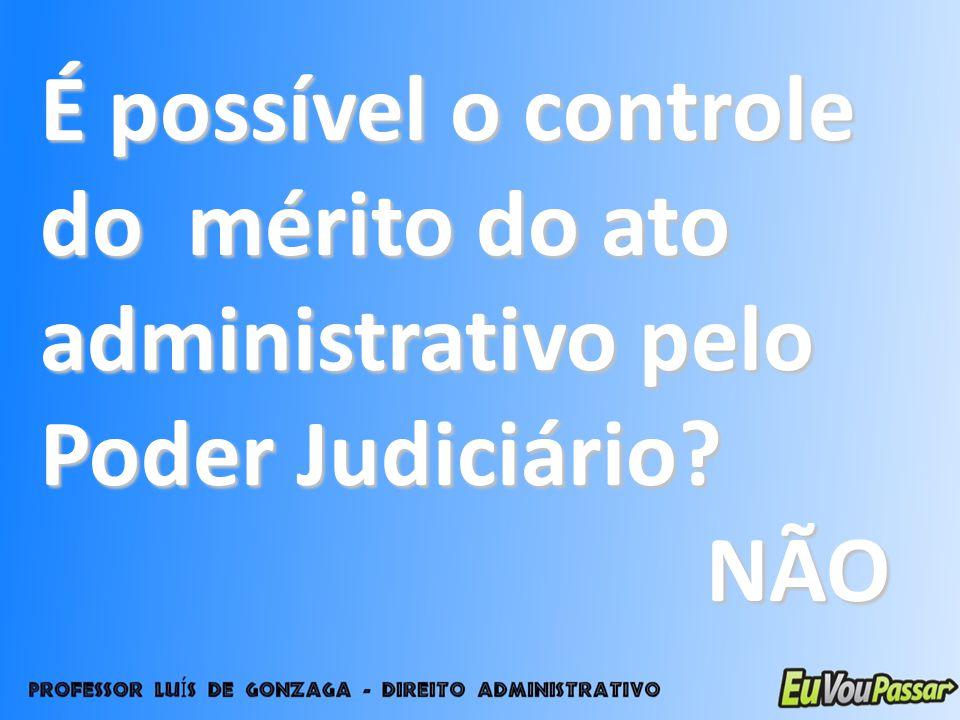 É possível o controle do mérito do ato administrativo pelo Poder Judiciário