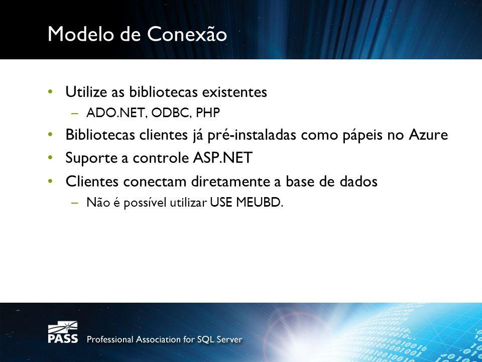 Modelo de Conexão Utilize as bibliotecas existentes